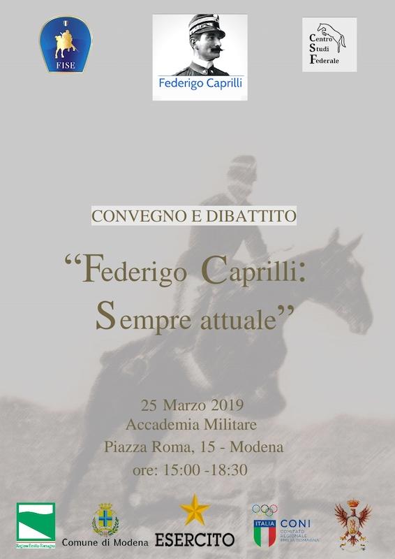 """Convegno """"Federigo Caprilli: sempre attuale"""" presso l'Accademia Militare di Modena"""