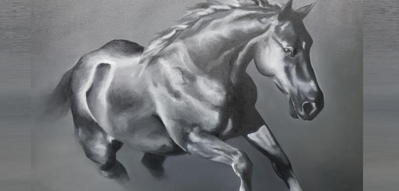 I cavalli nei dipinti di Francesca Provetti: due passioni che s'incontrano 1