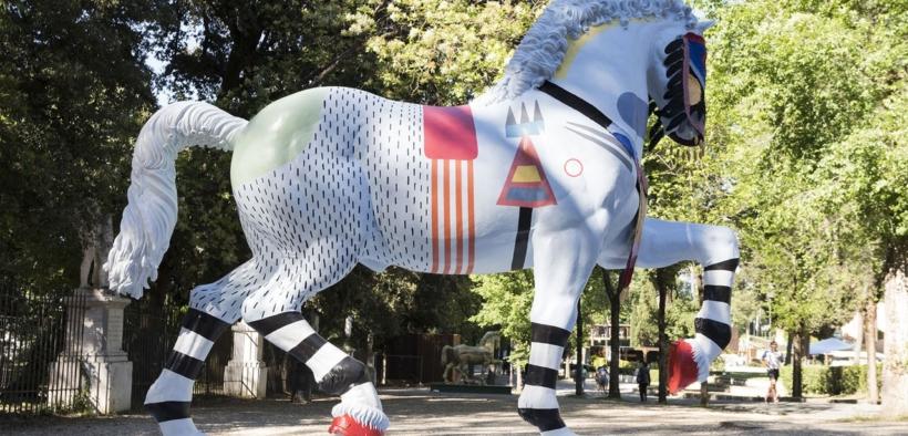 Leonardo Horse Project a Piazza di Siena