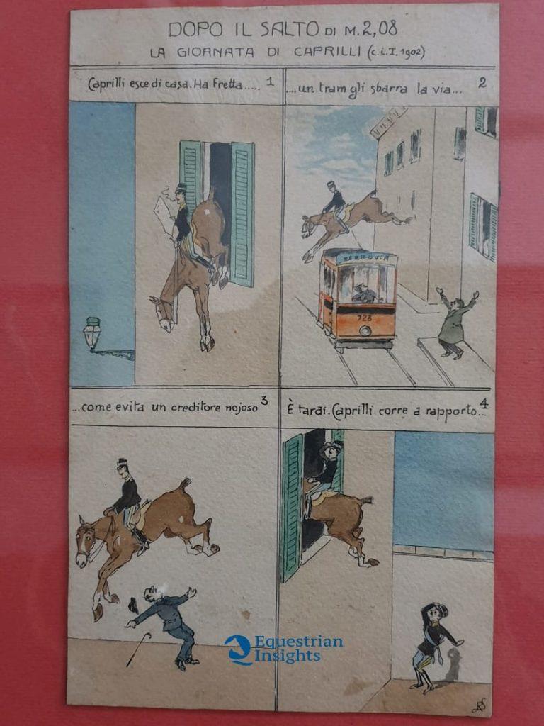 Caprilli in chiave umoristica in Cittadella ad Alessandria