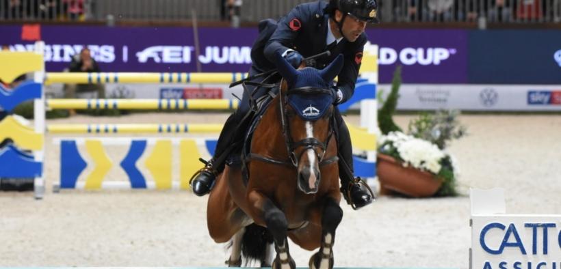 Emilio Bicocchi in Piazza d'Onore nella gara d'apertura a Madrid (CSI5*-W)