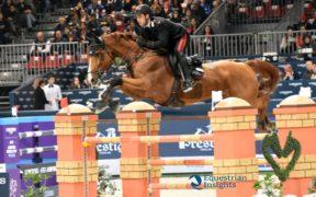 Jumping Verona, Emanuele Gaudiano vince il Premio Kask (h 155)