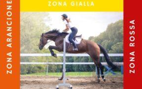 Sport Equestri: le regole per le diverse aree (Rossa, Arancione, Gialla)