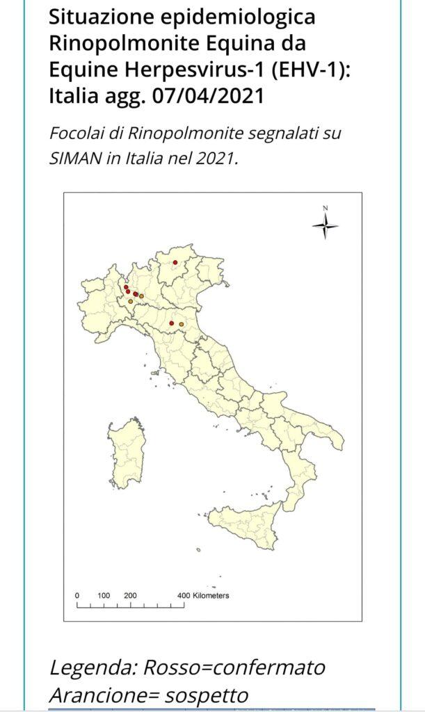 EHV-1 Italia, ultimi aggiornamenti sui casi ufficiali (7 aprile)